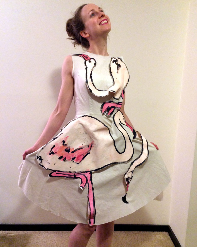 It's always helpful to make a calico toile before hand painting your dress!